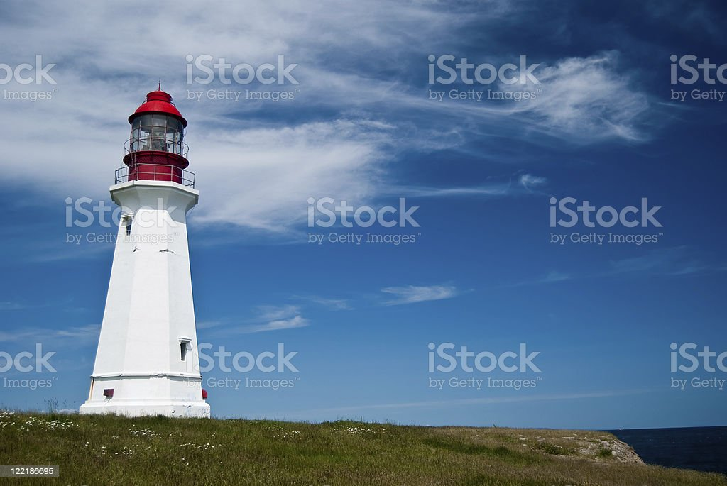 Low Point Lighthouse royalty-free stock photo