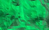 low poly 3D illustration rendering abstract green background