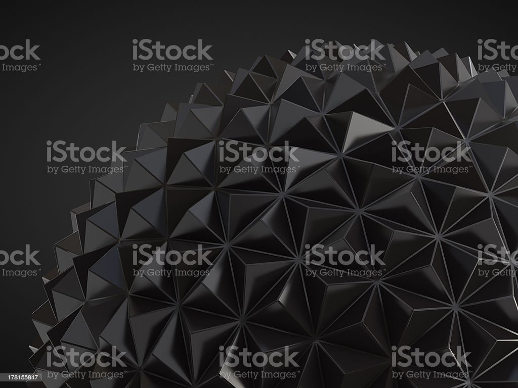 low poly geosphere stock photo
