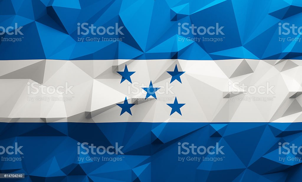 Low poly Honduras flag stock photo