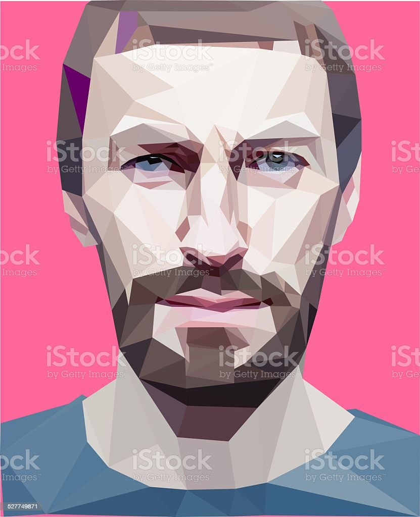 'low poly' style man stock photo