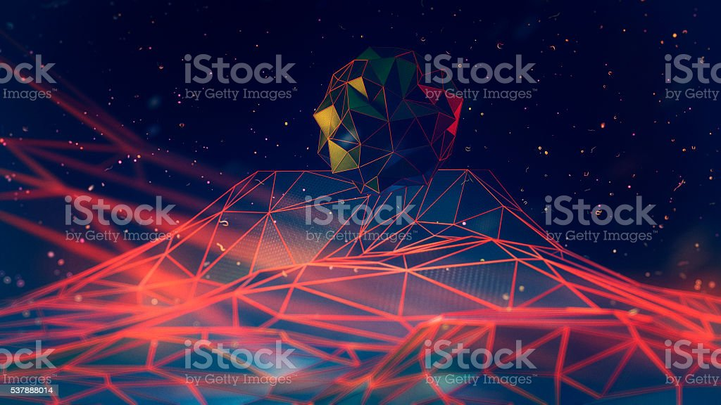 Low polygon abstract background stock photo