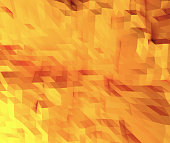 low polygone background yellow and orange abstract pattern 3D illustration
