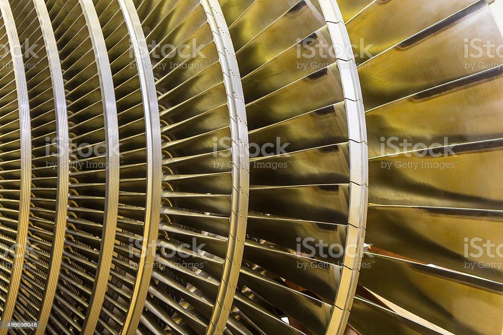 Low pressure turbine. stock photo