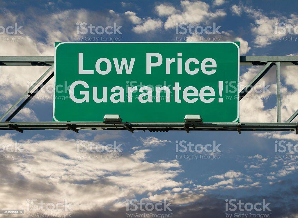 Low Price Guarantee stock photo