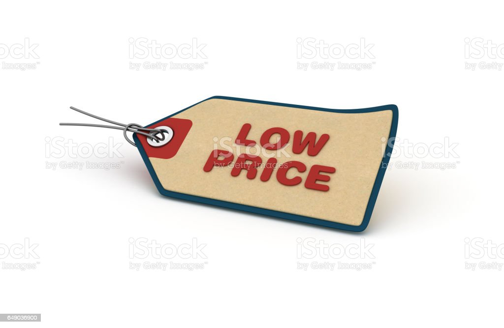 Low Price Shopping Tag - 3D Rendering stock photo