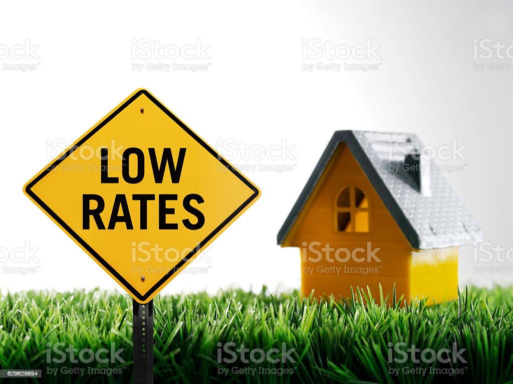 Low rates stock photo