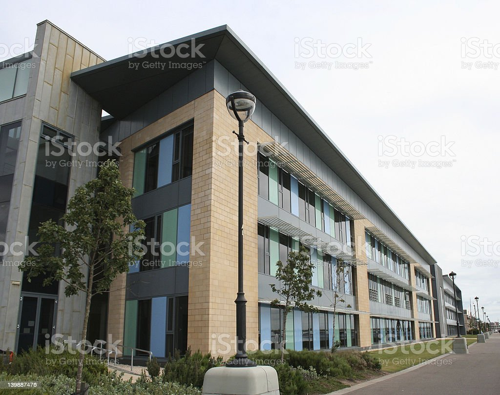 Low rise office building stock photo