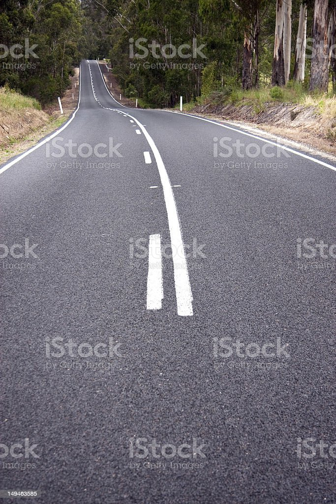 Low road view stock photo