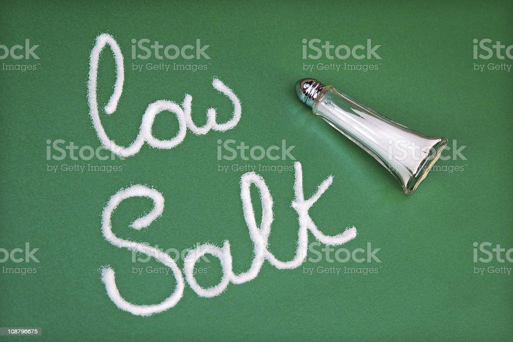 Low salt diet stock photo