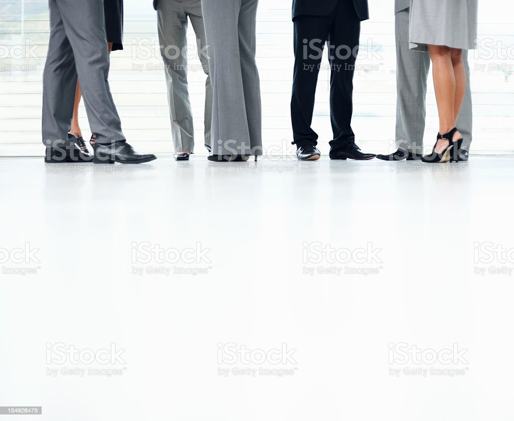 Low section of corporate people royalty-free stock photo