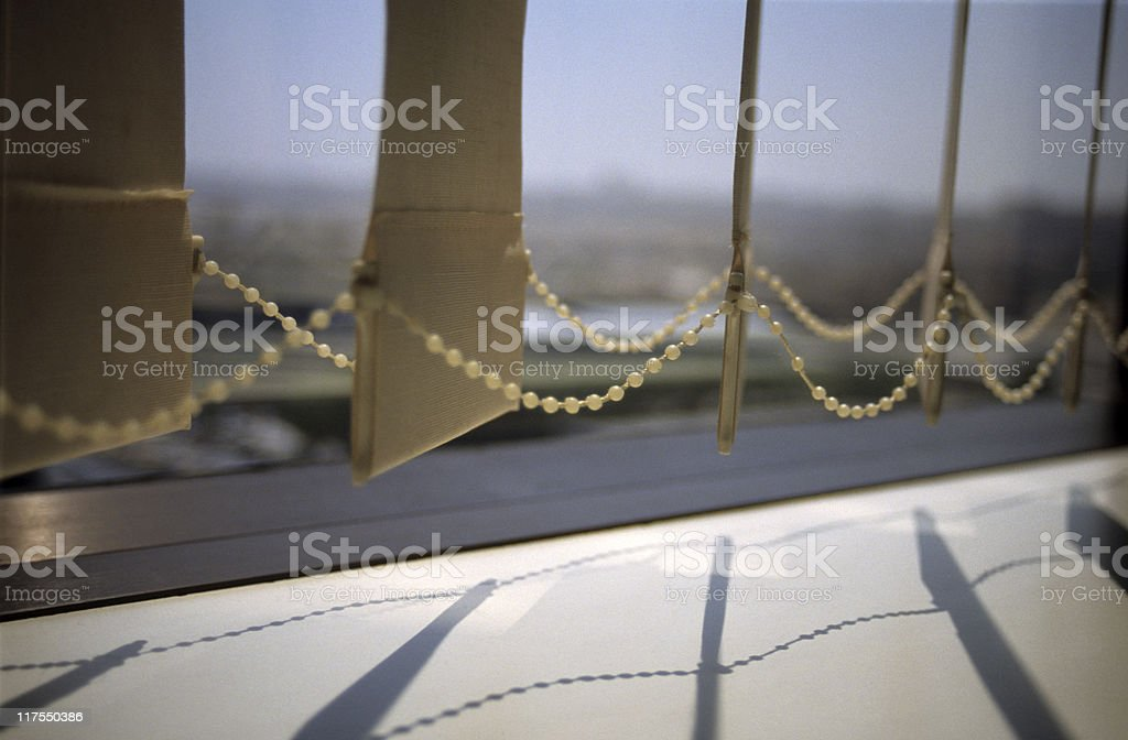Low section of vertical blinds, Istanbul, Turkey royalty-free stock photo