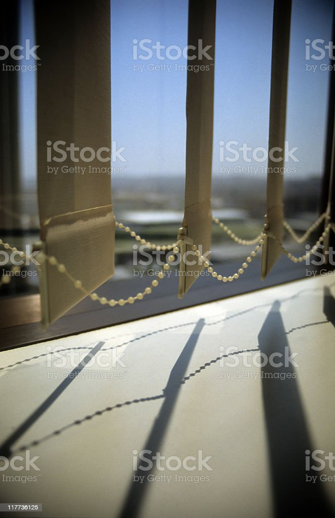 Low section of vertical blinds royalty-free stock photo