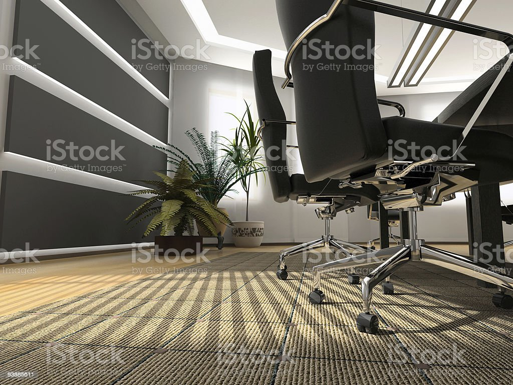 A low shot photo of a modern office stock photo