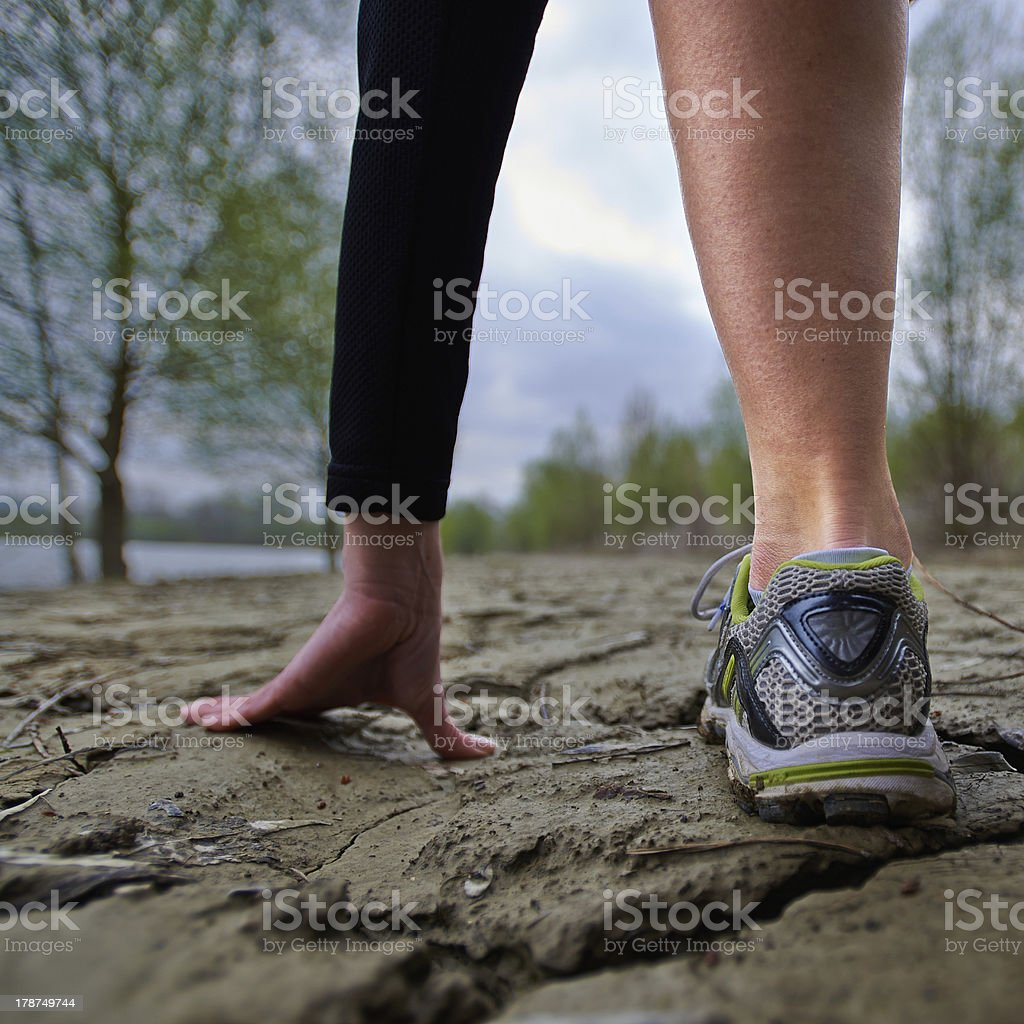 Low start for the run of life stock photo