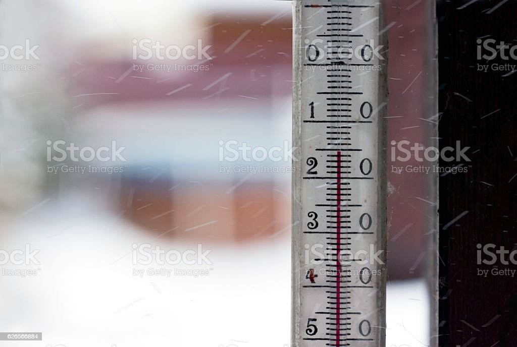 Low Temperature Outdoor stock photo