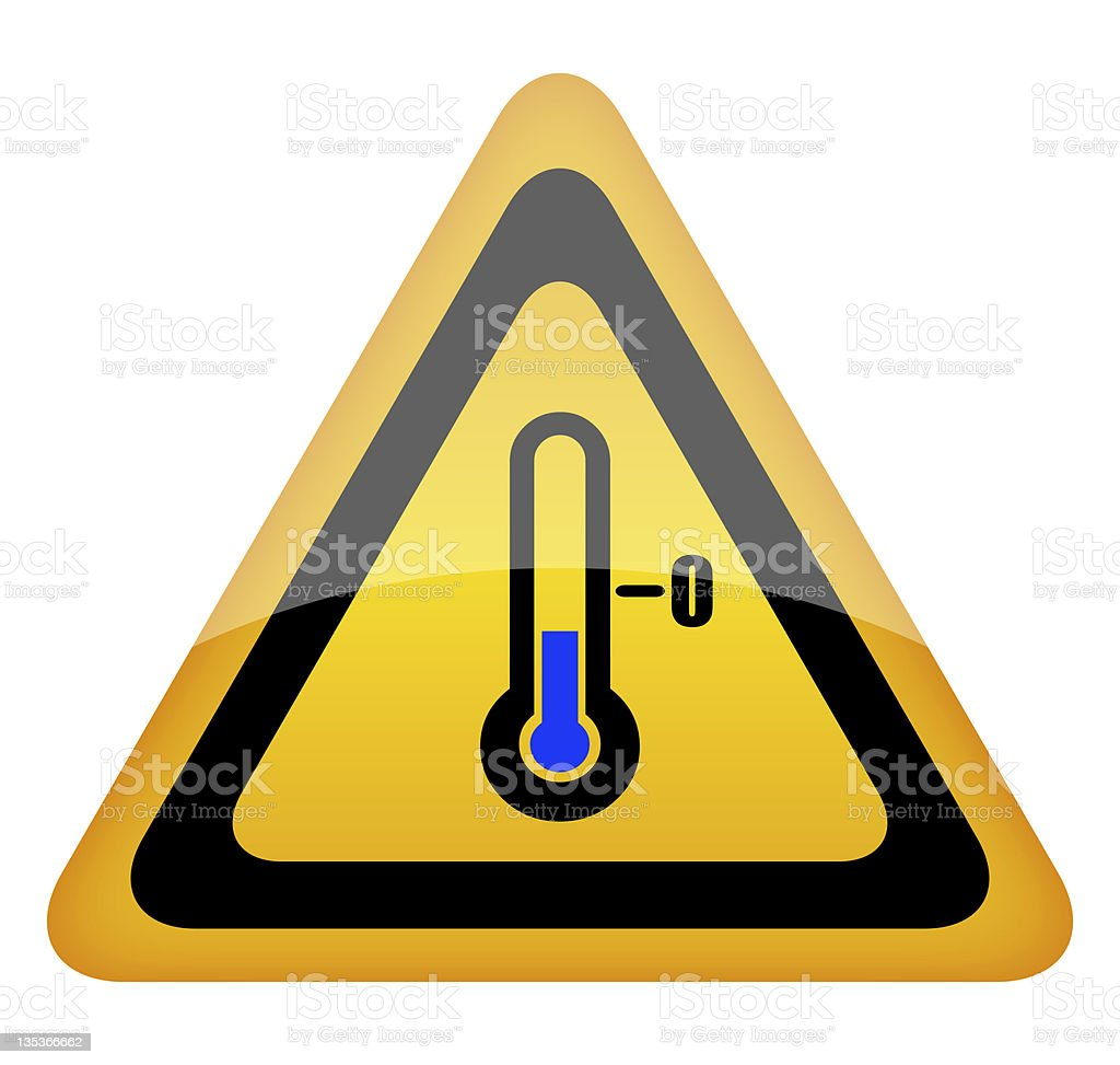 Low temperature sign stock photo