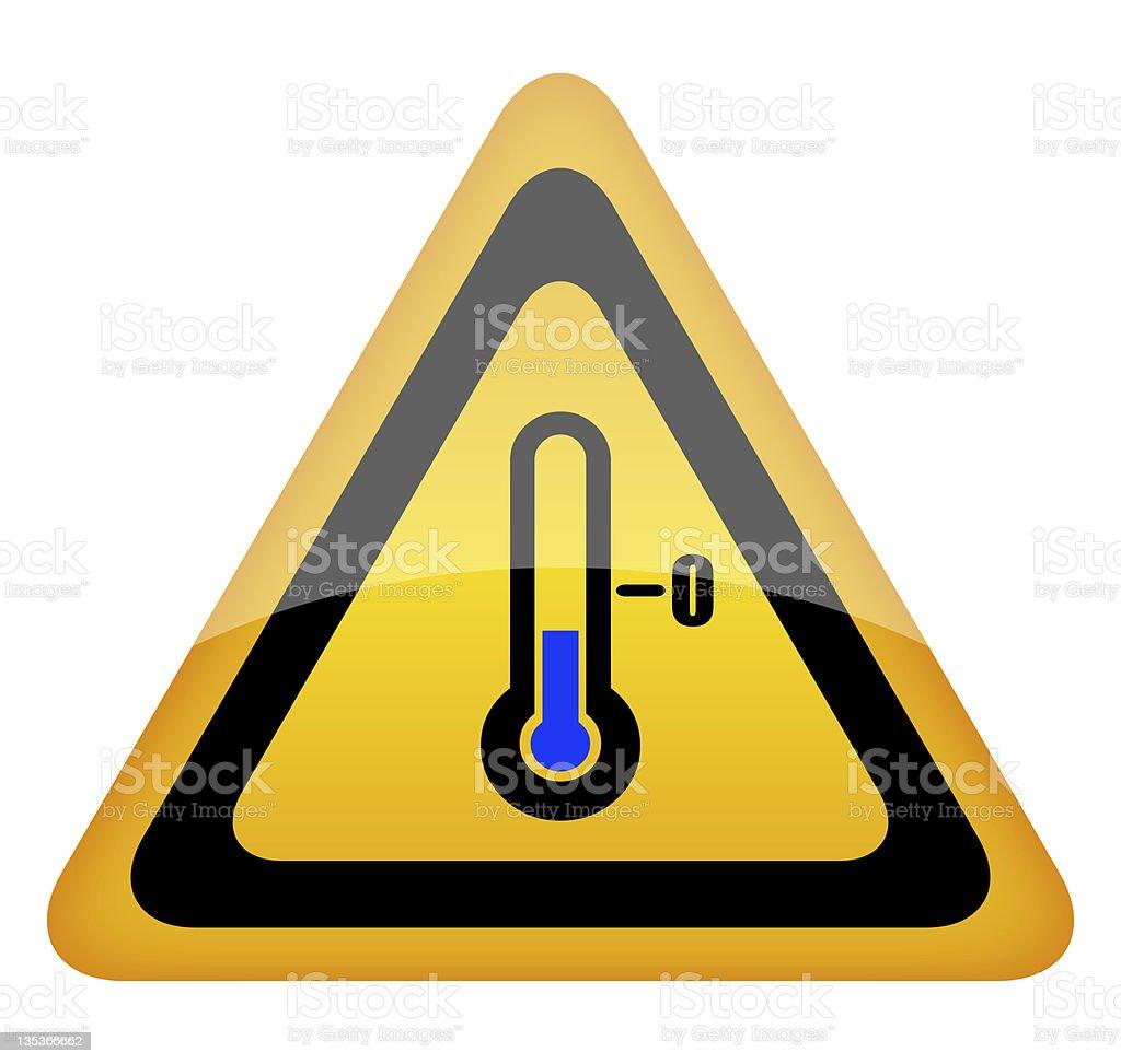 Low temperature sign stock photo