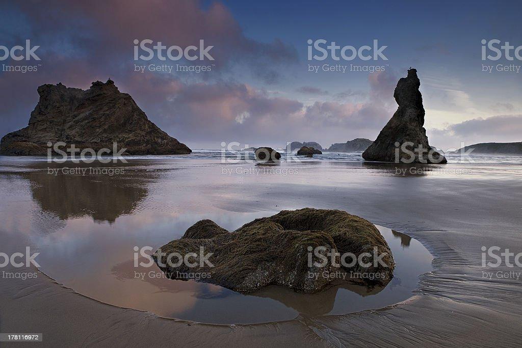 Low Tide at bandon Beach royalty-free stock photo