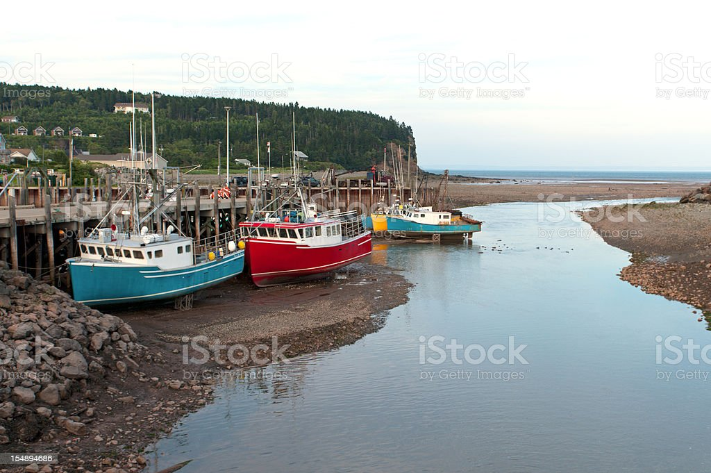 Low Tide at Bay of Fundy royalty-free stock photo