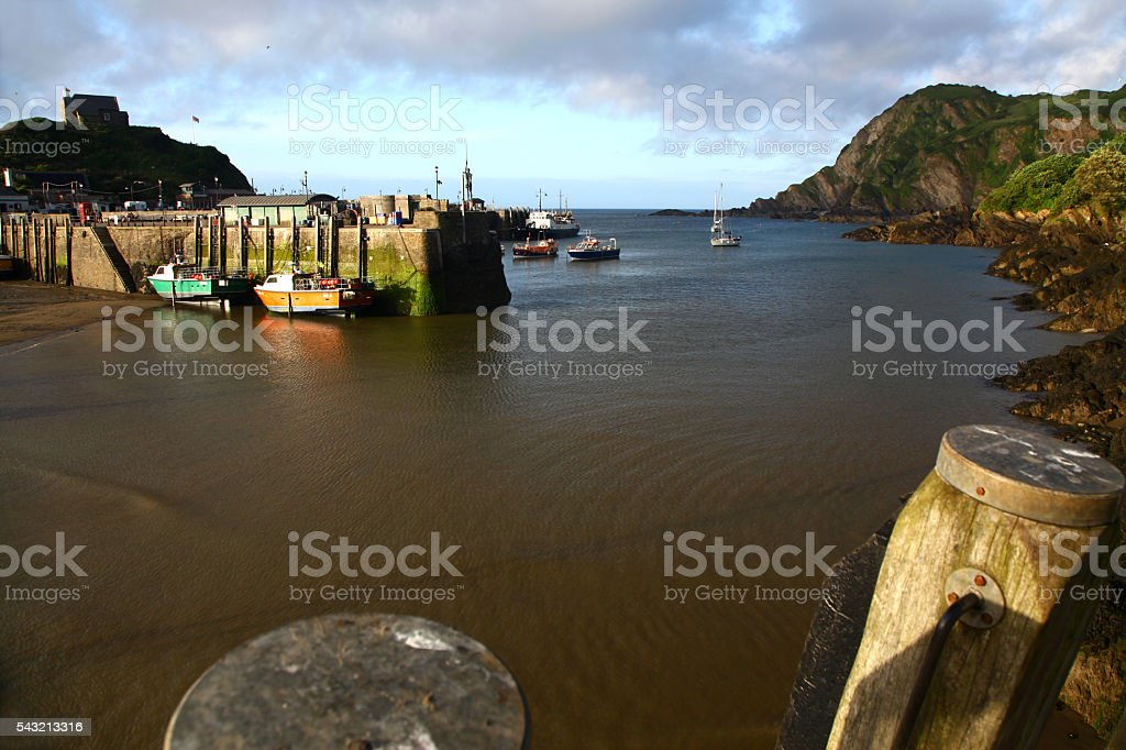 Low Tide at Ilfracombe stock photo
