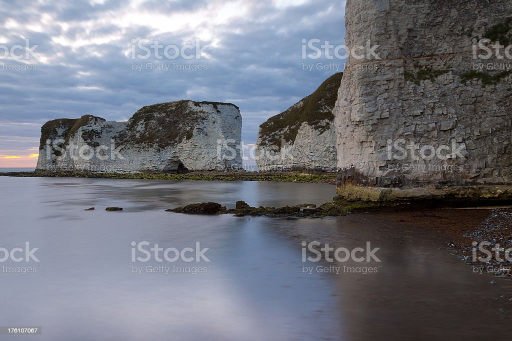 Low tide at Old Harry Rocks stock photo