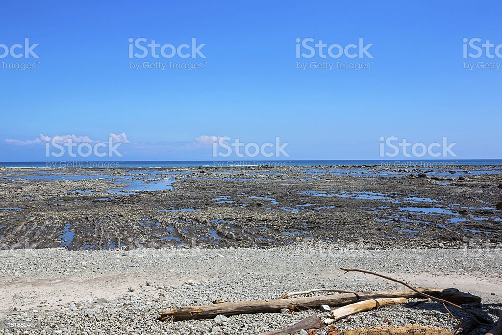 low tide at the ocean royalty-free stock photo