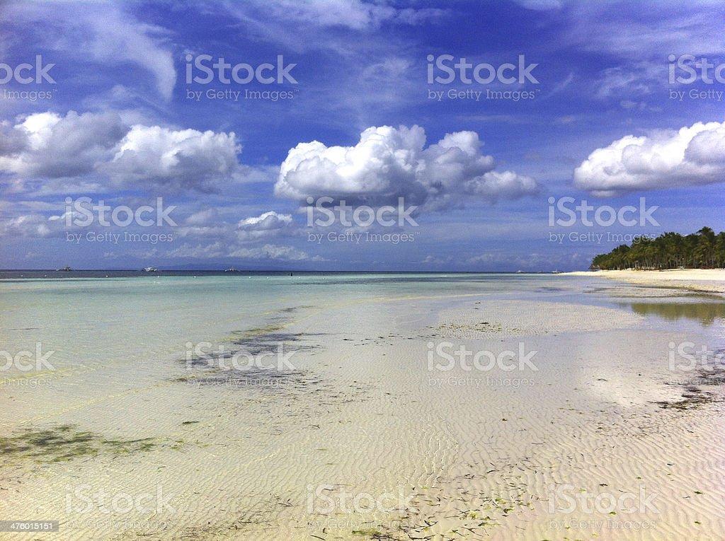 Low Tide Bohol Beach Landscape royalty-free stock photo