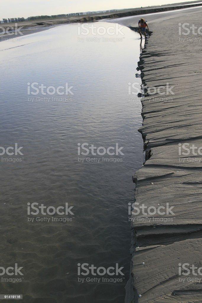 Low tide. Marea baja. stock photo