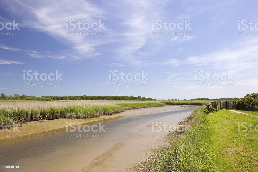 Low tide on the River Alde at Snape royalty-free stock photo