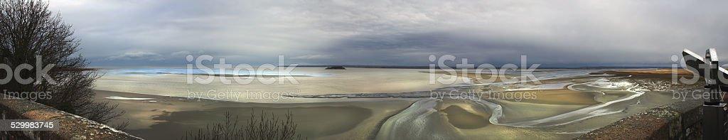 Low tide, panorama stock photo