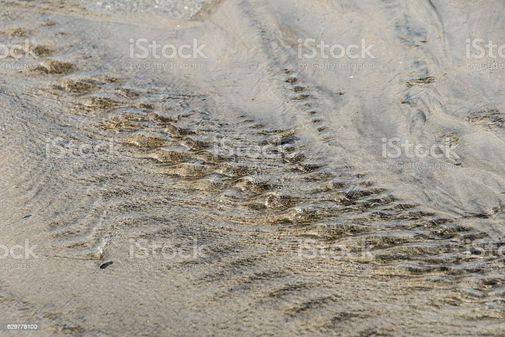 Low tide river stock photo