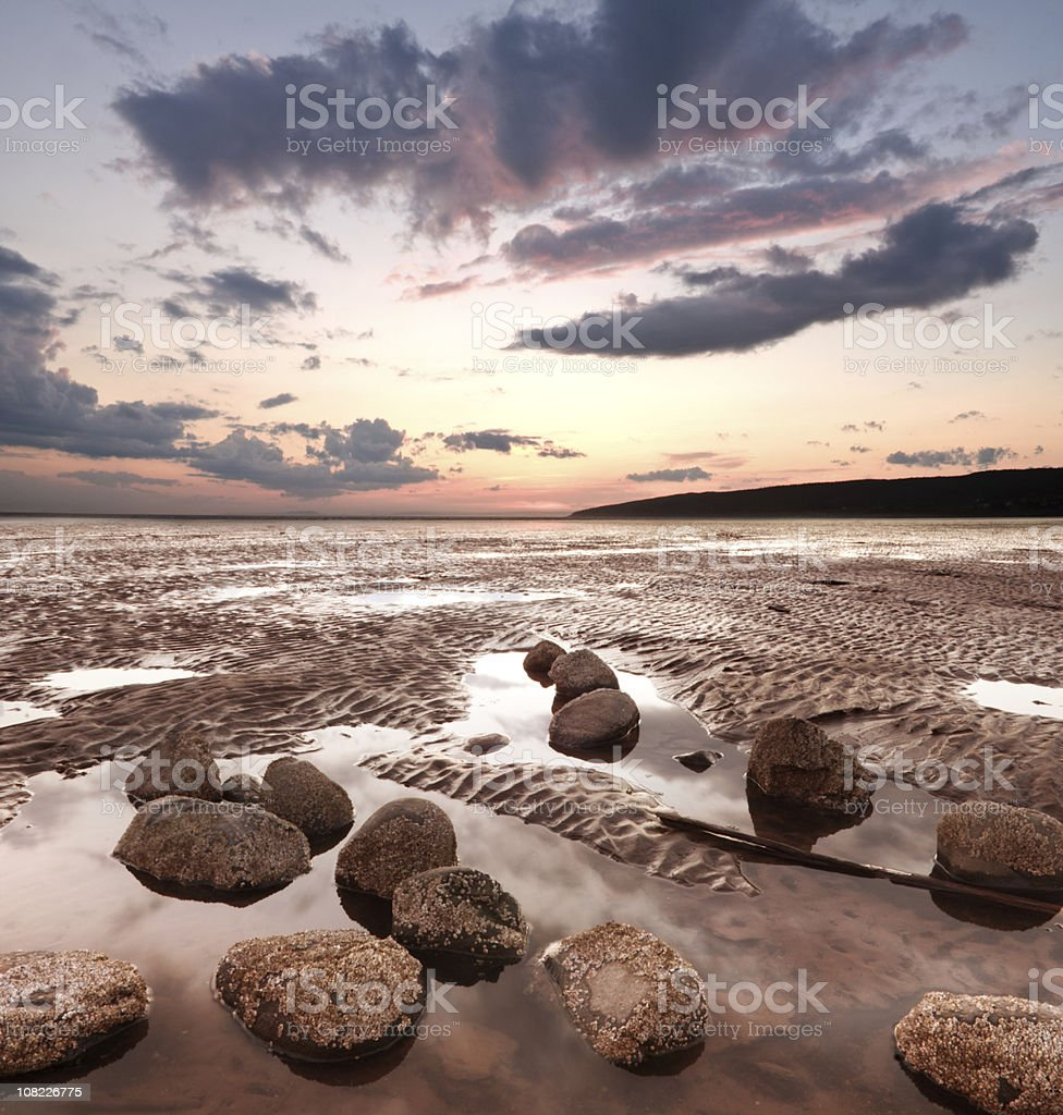 Low Tide Sunset royalty-free stock photo