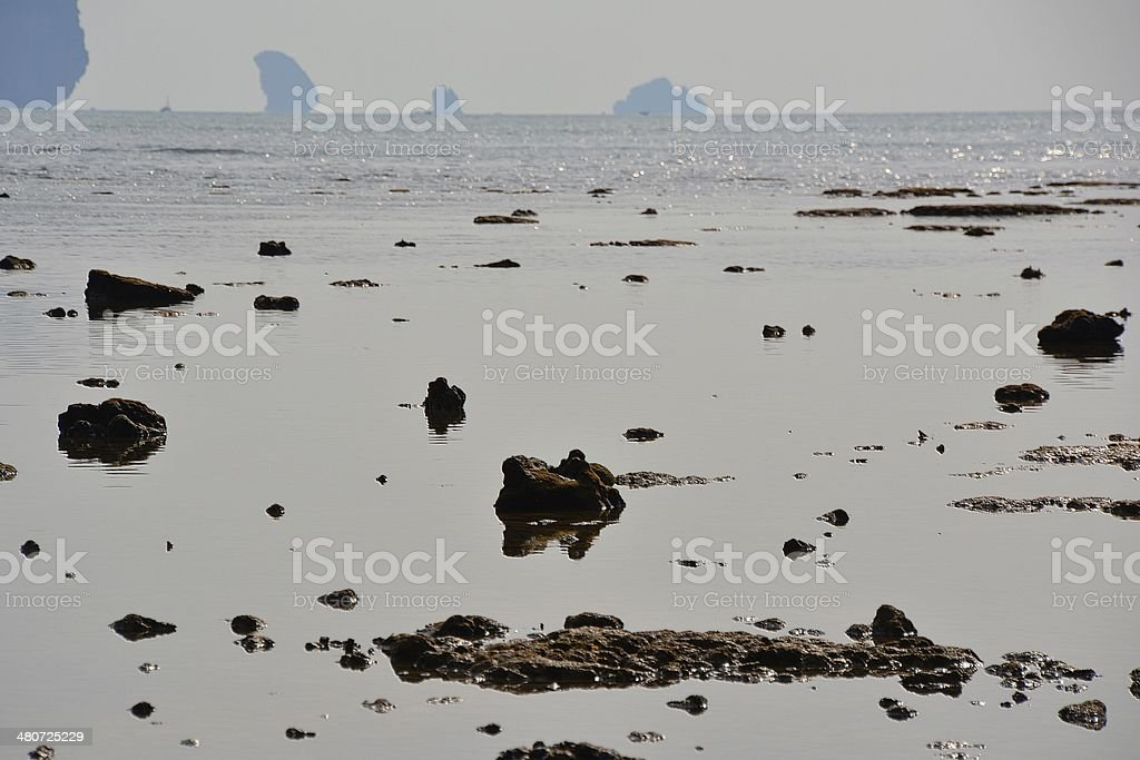 Low tide, Ton Sai Beach - Railay, Krabi province stock photo