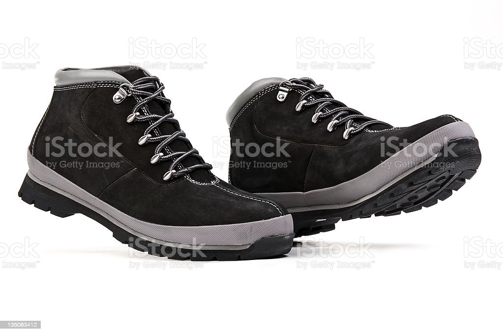 Low top men hiking boots royalty-free stock photo