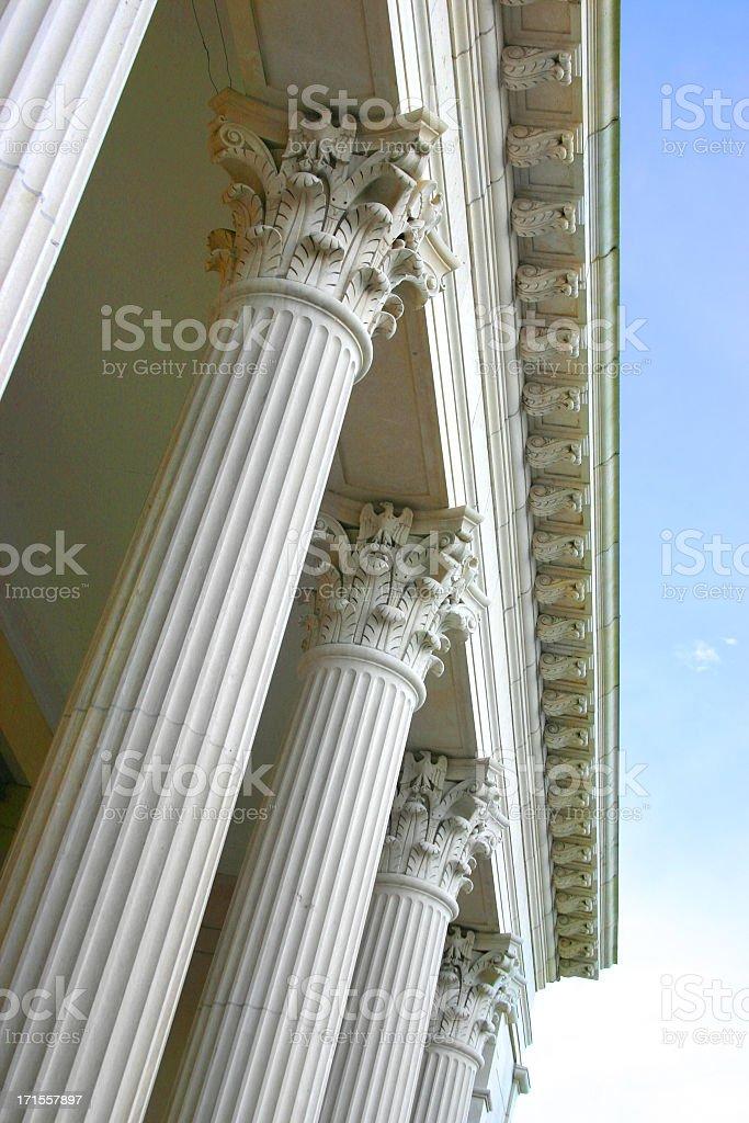 Low view photo of the Corinthian Columns royalty-free stock photo