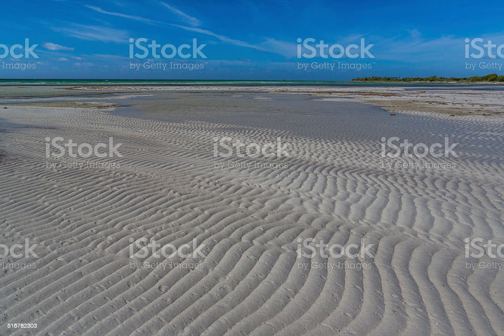 Low water flats of Bahia Honda Bay in Florida Keys stock photo