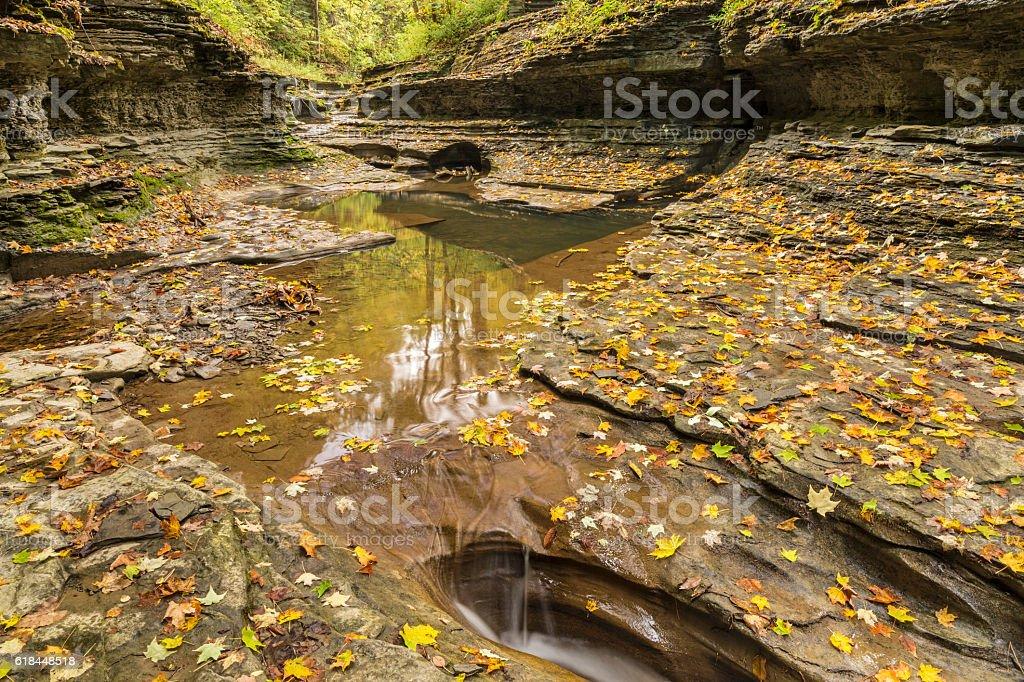 Low Water in Buttermilk Creek stock photo
