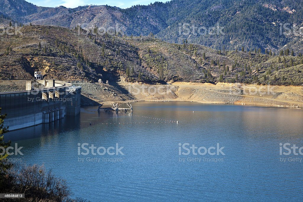 Low Water in Shasta Lake stock photo