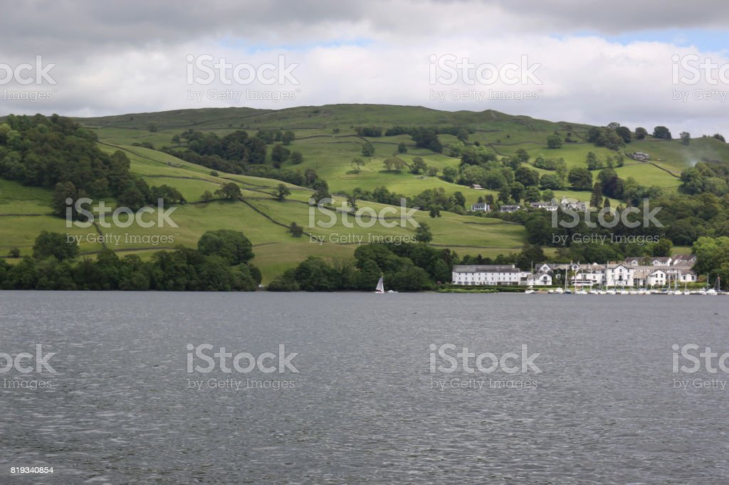 Low Wood on Lake Windermere stock photo