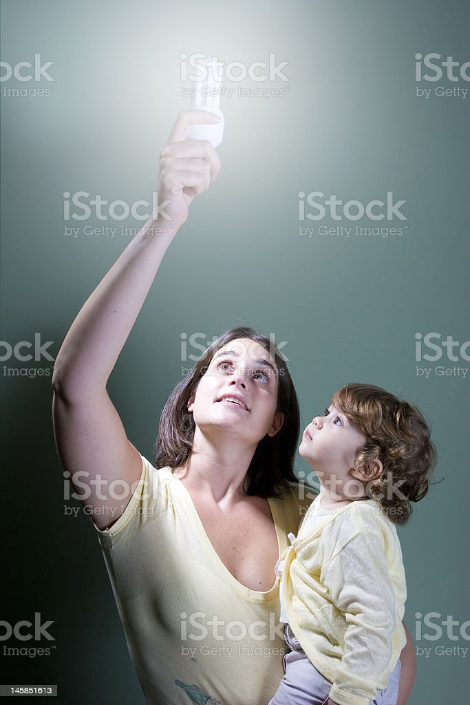 Low-energy light for the future stock photo