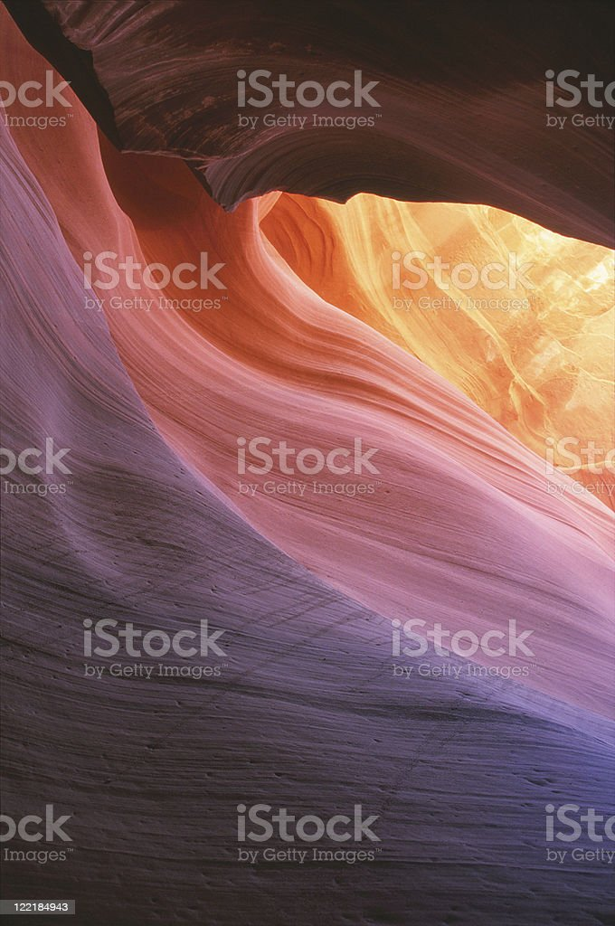 Lower Antelope Canyon as viewed within a slot canyon royalty-free stock photo