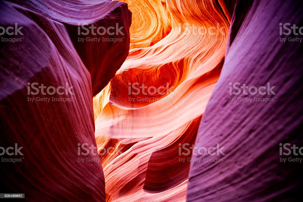 Lower Antelope Canyon in Arizona, USA stock photo