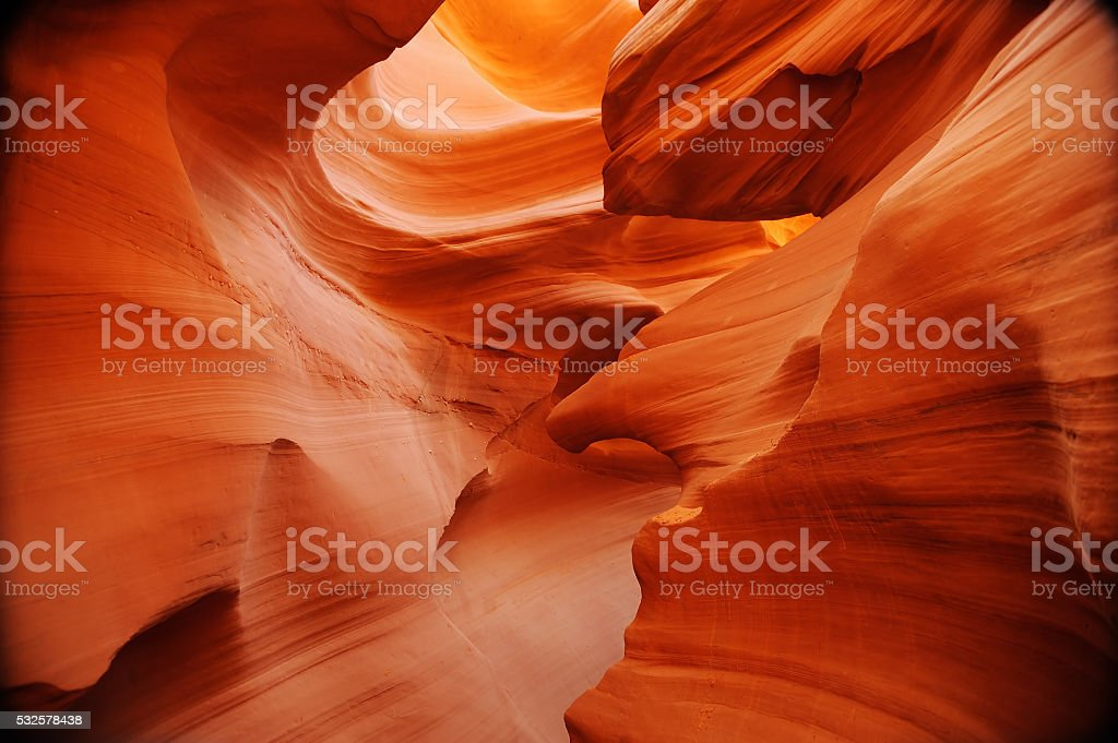 Lower Antelope Canyon in USA stock photo
