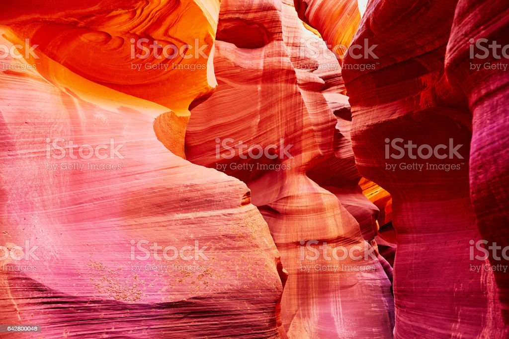 Lower Antelope Canyon near Page, Arizona, USA stock photo
