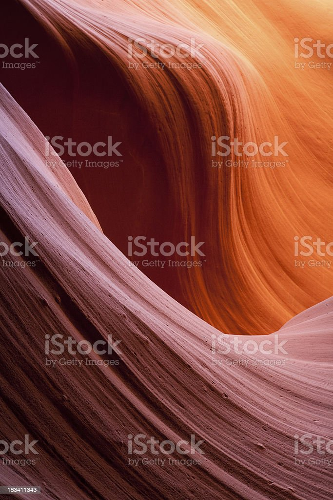 Lower Antelope Canyon Smooth Shapes royalty-free stock photo