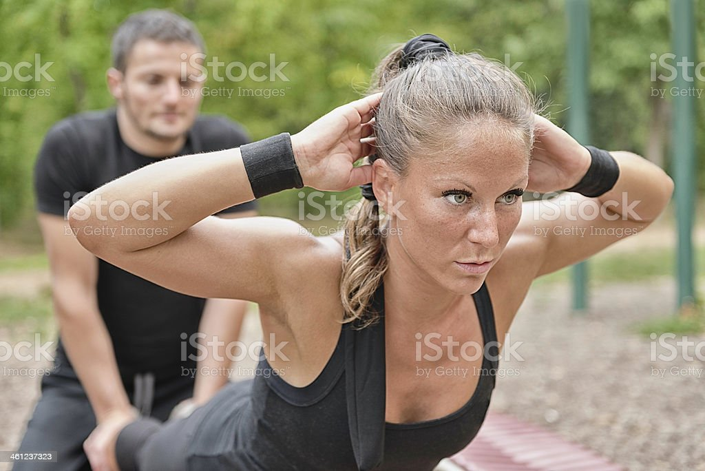 Lower back exercise stock photo