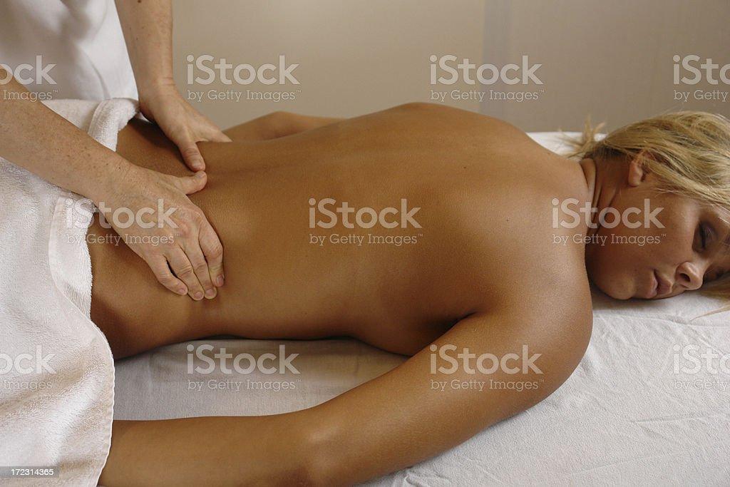 lower back massage royalty-free stock photo
