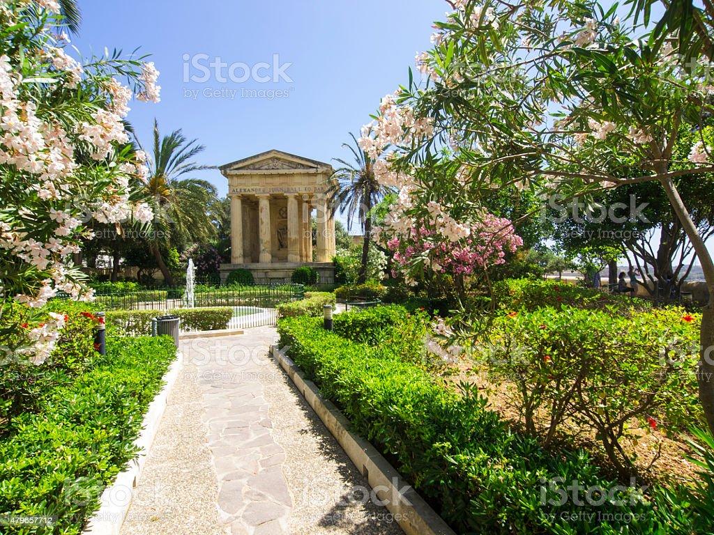 Lower Barrakka Garden in Valleta, Malta stock photo