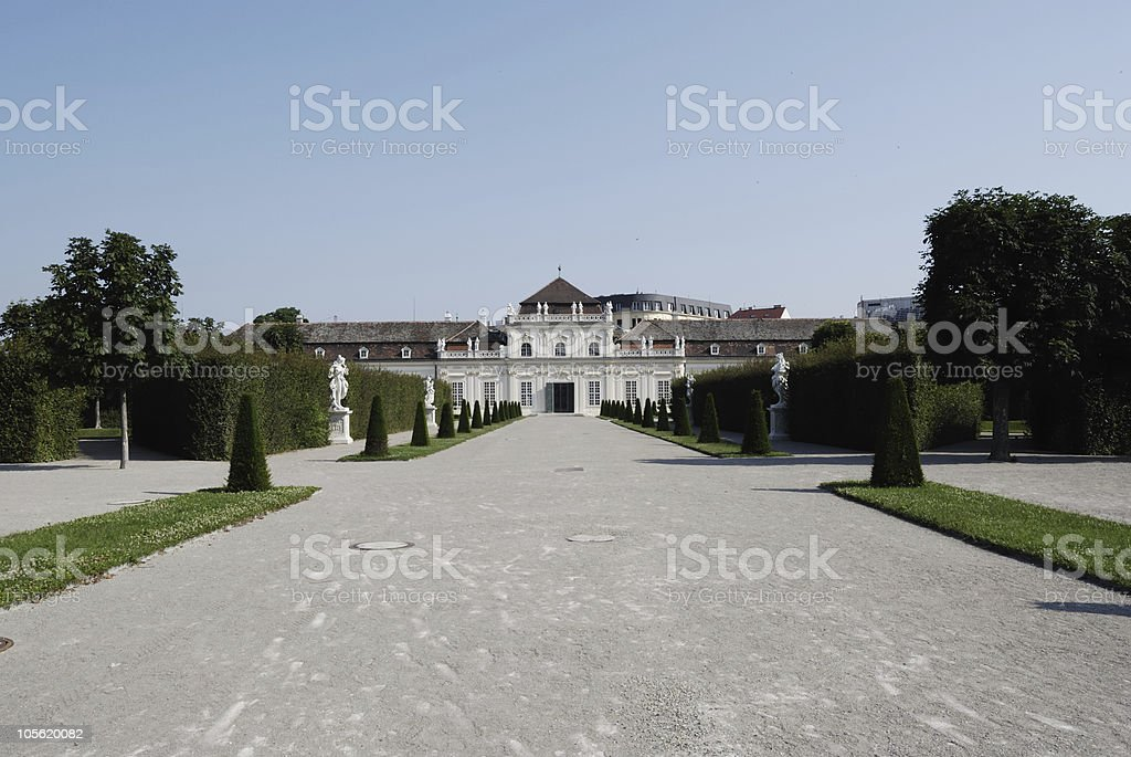 Lower Belvedere Palace stock photo